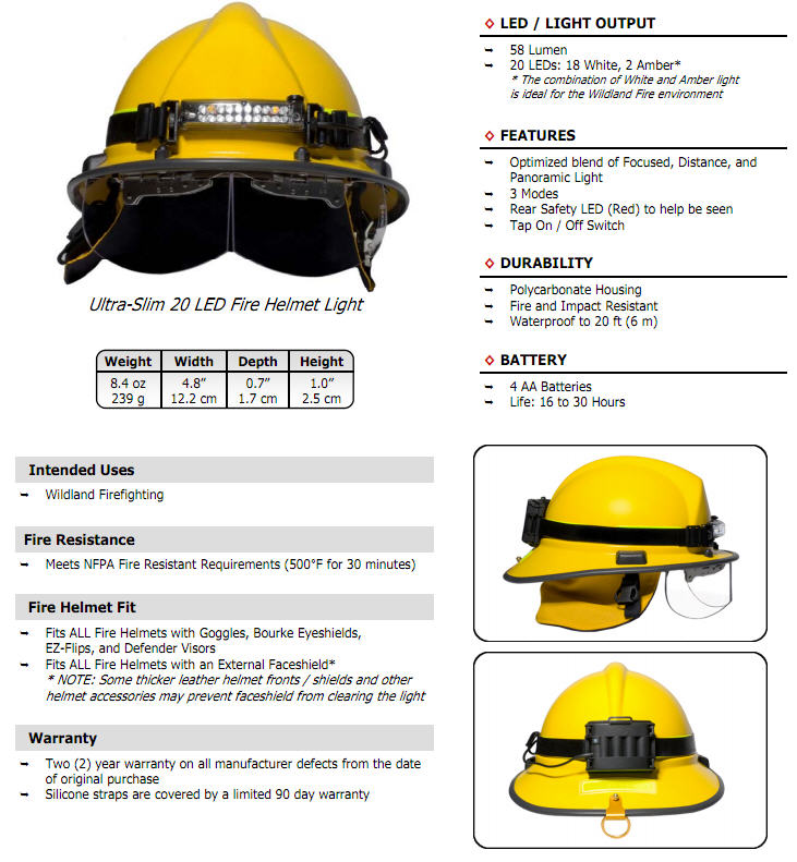 FoxFury Command 20 Wildland Fire Headlamp - FOX 420015