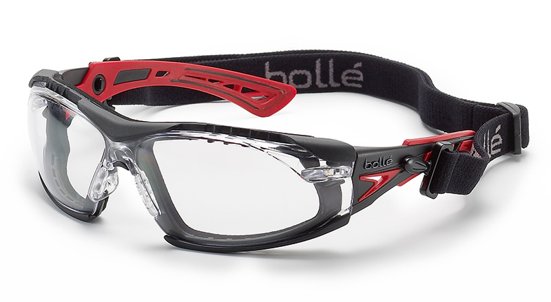 5d8d09edeb ... Bolle Rush+ Safety Glasses with Foam and Strap Kit - BOL 4025 ...