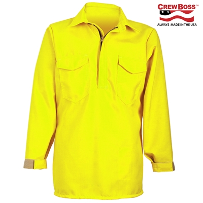 CrewBoss Hi-Viz Hickory Shirt - Tecasafe Plus