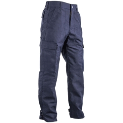 "CrewBoss Stationwear Pants - 6.8 oz. Nomex Navy Large 34"" with Trim CrewBoss"