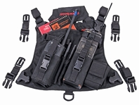 CrewBoss CRUSH Radio Chest Pack radio harness, chest harness, firefighter gear, crush harness, radio chest harness