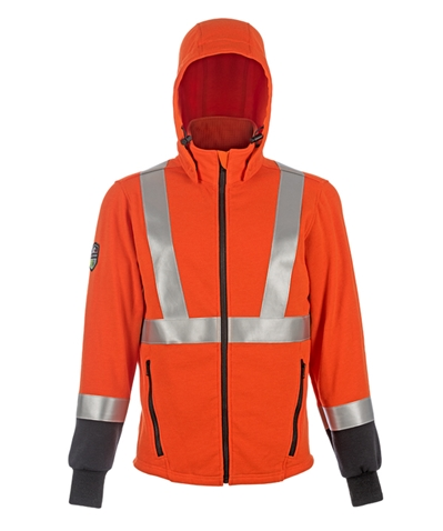 DragonWear Elements Hi-Viz Blaze Hooded Jacket - Orange