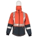 DragonWear Elements Hi-Viz Lightning Hooded Jacket - Orange - TNG DFML135