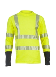 DragonWear PowerDry FR Dual Hazard Hi-Viz Shirt - True North DragonWear
