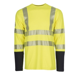 DragonWear Pro Dry FR Dual Hazard Hi-Viz Shirt Yellow - True North DragonWear
