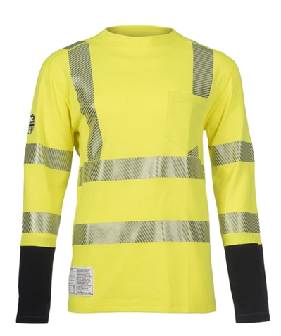 DragonWear PowerDry FR Dual Hazard Hi-Viz Shirt with Pocket