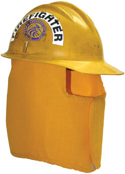"FP500 Neck Protector Full 10.5"" Unlined bullard helmet, fire helmet, hard hat safety, Neck Protector, shroud"