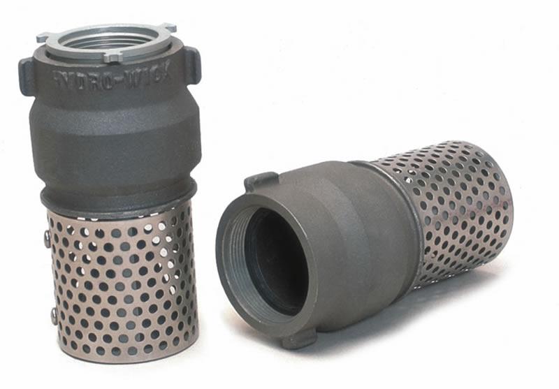 Foot valve strainer aluminum nh