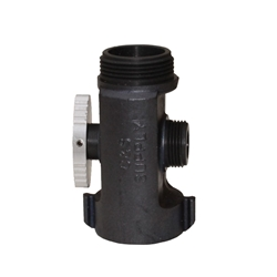 "Hose Line Tee Valve 1-1/2"" NH x 1"" NH Outlet"