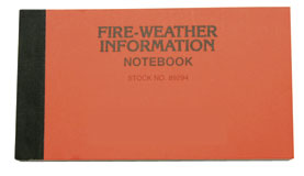 Fire Weather Kit Spiral Bound Note Book