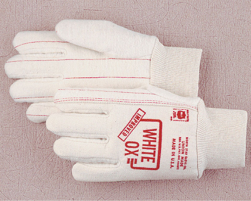 NORTH STAR ORIGINAL WHITE OX  WORK GLOVES 1014 LARGE  12 Pr Made in the  U.S.A.