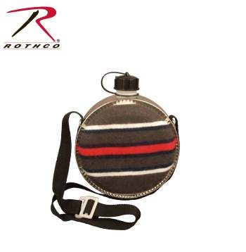 Rothco 2 Quart Striped Desert Canteen canteen, firefighter gear