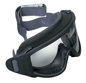 ESS Firefighter Rubber Goggles  Smokeless firefighter goggles, safety goggles, rubber goggles