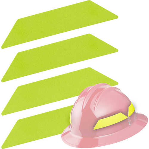 Scotchlite strips Lime-yellow bullard helmet, fire helmet, hard hat safety