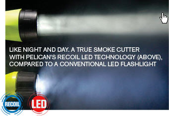 Pelican STEALTHLITE 2410 Recoil LED Sub/Photo Flashlight - PEL 2410PLC