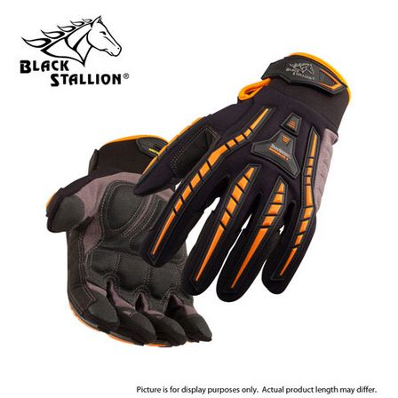 ToolHandz Anti-Vibration Synthetic Leather Mechanic%27s Gloves black stallion, bsx, revco