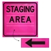 Optional Velcro Arrow Overlay for Square Roll-Up Signs - DIC SBOL36