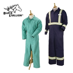 9 oz. FR Cotton Coverall w/Pass-Through black stallion, bsx, revco