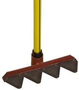 Nupla Fire Rake with Fiberglass Handle