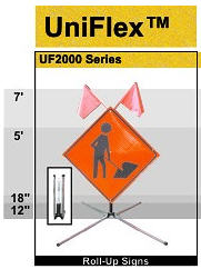 Uniflex Screwlock Sign Holder - DIC UF2000W