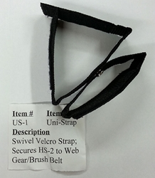 Uni-Strap for Hot Shield, Gloves, Flashlight, etc. hot shield, face mask, face fire protection, strap, glove strap, flashlight strap