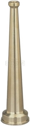 "Brass Straight Stream Nozzle 6"", 3/4"" GHT"