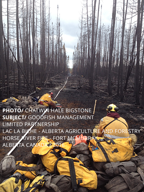 PHOTO/ CHATWIN HALE BIGSTONE SUBJECT/ GOODFISH MANAGEMENT LIMITED  PARTNERSHIP LAC LA BICHE - ALBERTA AGRICULTURE AND FORESTRY HORSE RIVER FIRE - FORT MCMURRAY ALBERTA CANADA / 2016