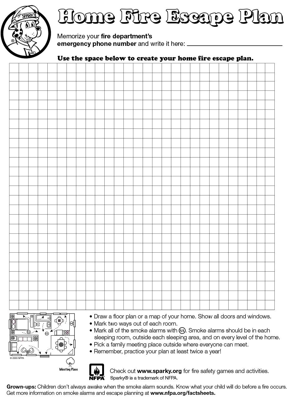 make your own home fire escape plan. Black Bedroom Furniture Sets. Home Design Ideas