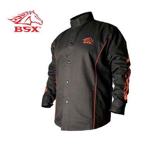 BSX FR Cotton Welding Jacket black stallion, bsx, revco