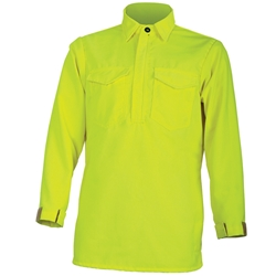 CrewBoss Hi-Viz Hickory Brush Shirt - Tecasafe Plus CrewBoss, brush shirt, wildland shirt, hi-viz shirt, hickory shirt