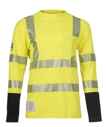 DragonWear PowerDry FR Dual Hazard Hi-Viz Shirt with Pocket DragonWear