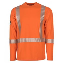 DragonWear Pro Dry FR Dual Hazard Hi-Viz Shirt Orange - True North DragonWear
