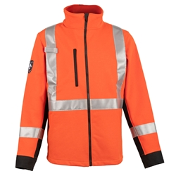 DragonWear Shield FR Soft Shell Hi-Vis Jacket - Orange