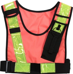 Hi-Viz Radio Safety Vest radio harness, chest harness, firefighter gear