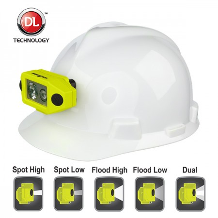 Nightstick X-Series Intrinsically Safe Low-Profile Dual-Light Headlamp w/ Hard Hat Clip