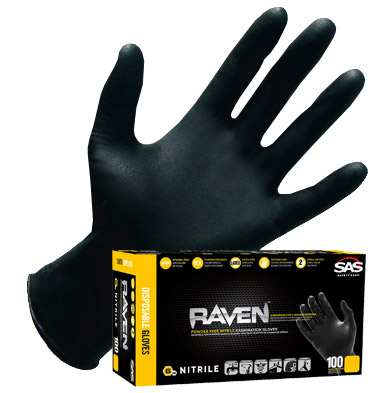 SAS Safety Raven Powder-Free Nitrile Disposable Glove